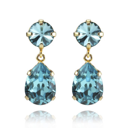 Caroline Svedbom Classic Drop Earrings Light Turquoise Gold