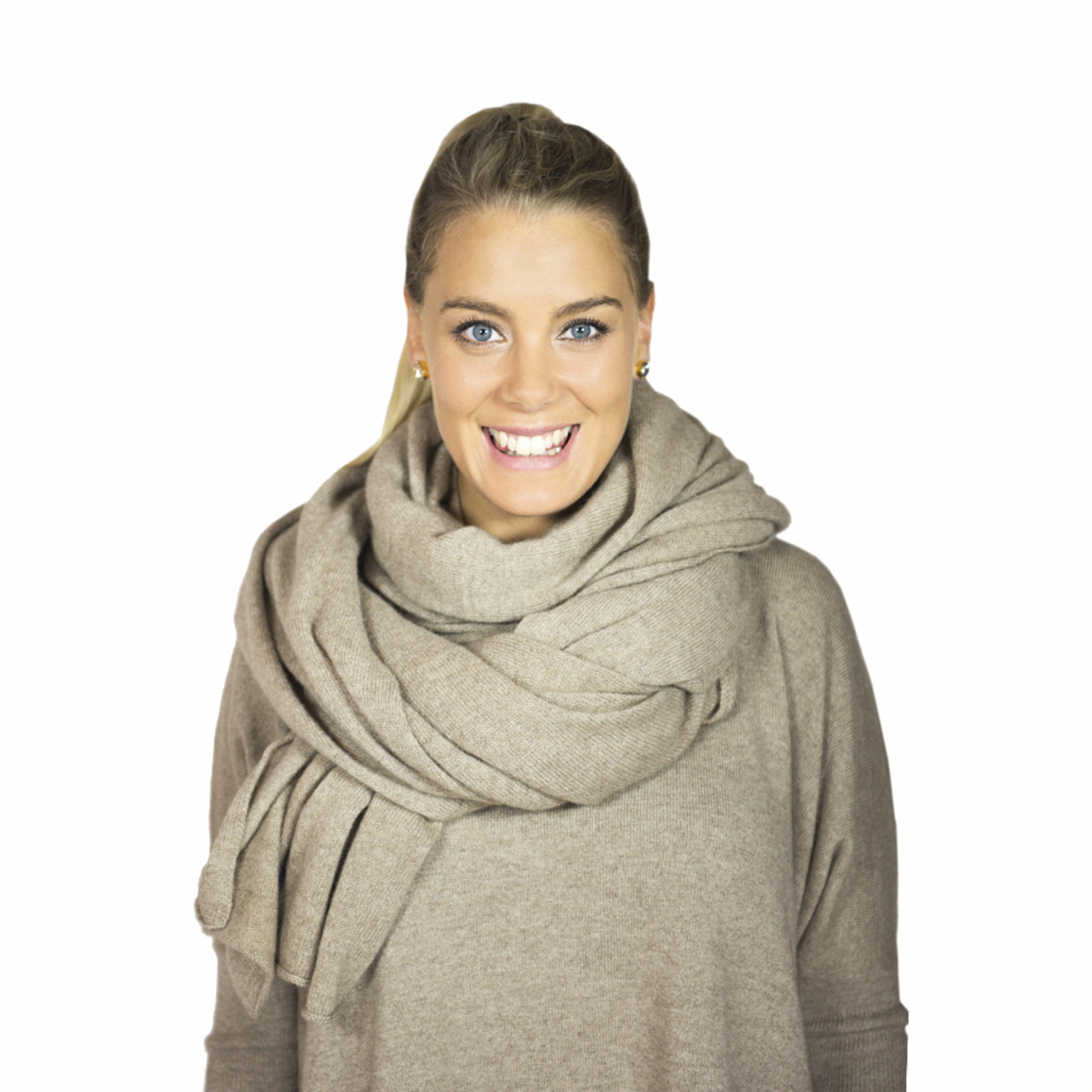 Lisa Yang Stor Sjal Mole 100% Cashmere - DAYSTYLE ab46c9988ec02