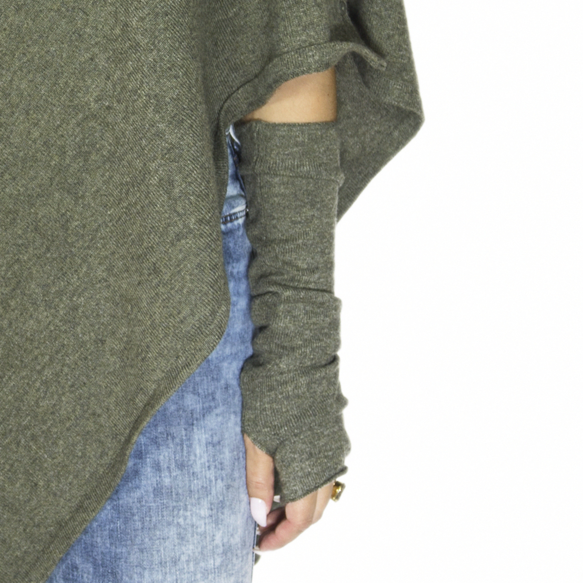 Lisa Yang Armvärmare Army Green 100% Cashmere - DAYSTYLE 96cc93bc622e5