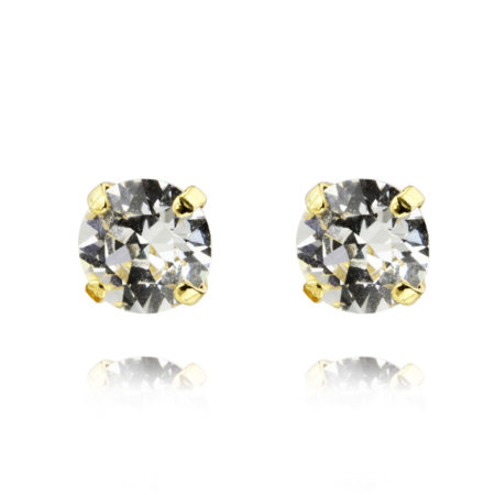 Caroline Svedbom Classic Stud Earrings Crystal Gold