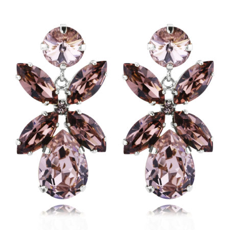 Caroline Svedbom Dione Earrings Vintage Rose Rhodium