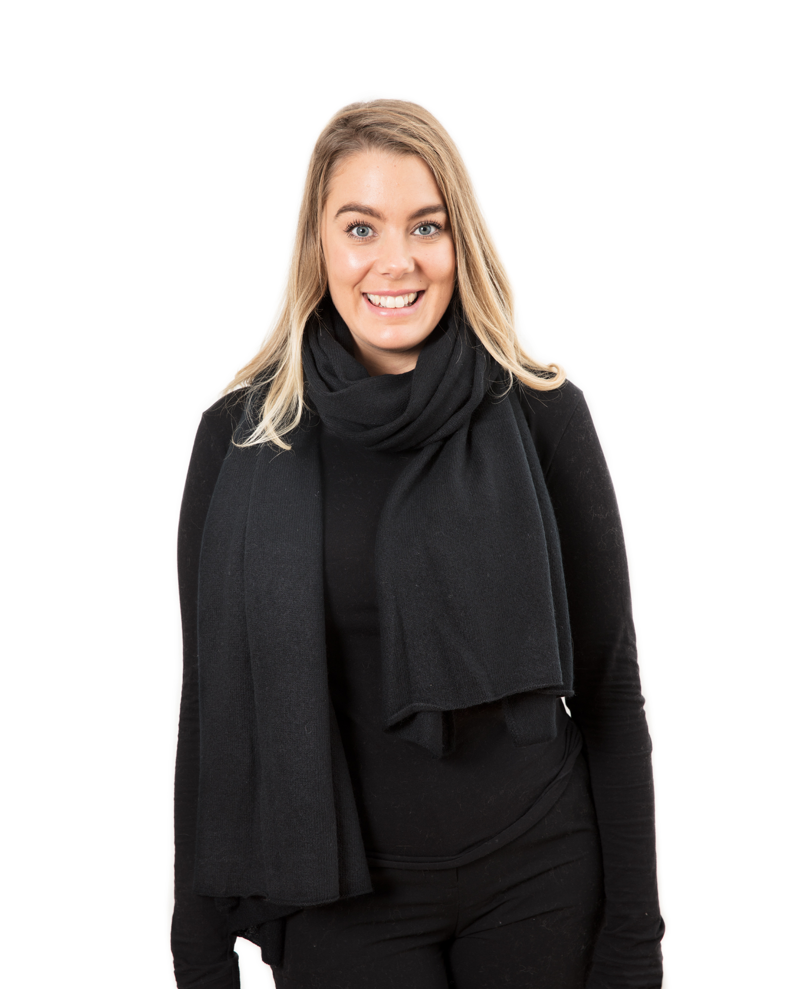 Lisa Yang Stor Sjal Black 100% Cashmere - DAYSTYLE 5192bf634e468