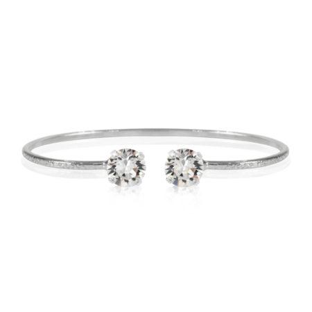 Caroline Svedbom Petite Stud Bracelet Crystal Rhodium