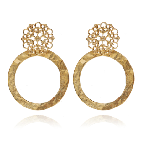 Caroline Svedbom Andriana Earrings Gold