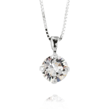 Caroline Svedbom Petite Stud Necklace Crystal Rhodium