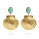 Caroline Svedbom Shell Earrings Turquoise