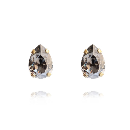 Caroline Svedbom Petite Drop Studs Black Diamond Gold