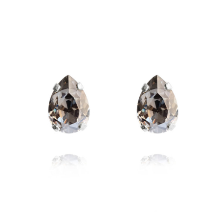 Caroline Svedbom Petite Drop Studs Black Diamond Rhodium