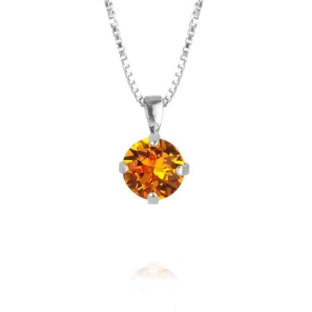 Caroline Svedbom Classic Petite Stud Necklace Tangerine