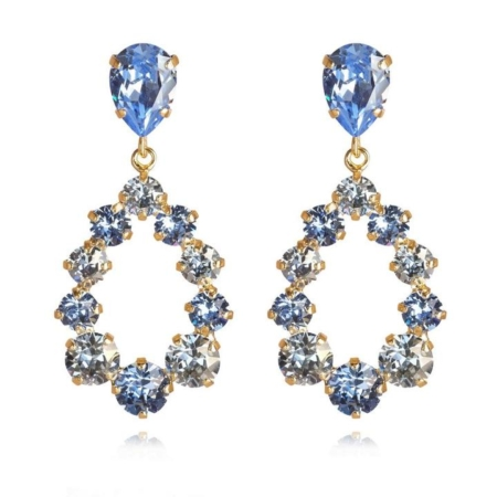 Caroline Svedbom Delia Earrings Light Sapphire + Blue Shade