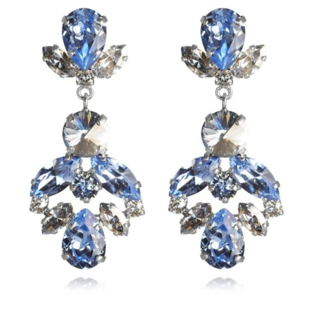 Caroline Svedbom Melina Earrings Light Sapphire + Blue Shade