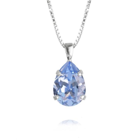 Caroline Svedbom Mini Drop Necklace Light Sapphire
