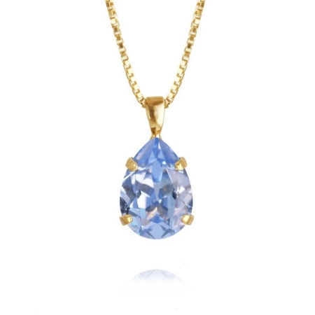 Caroline Svedbom Mini Drop Necklace Light Sapphire