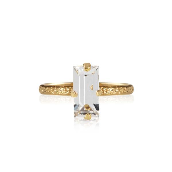 Caroline Svedbom Baguette Ring Crystal
