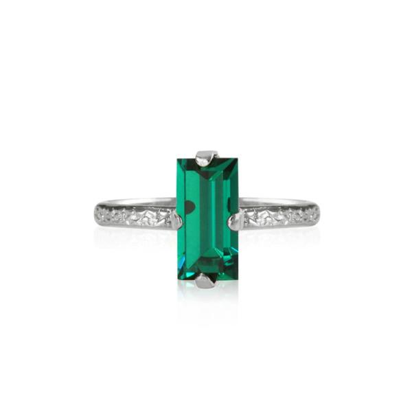 Caroline Svedbom Baguette Ring Emerald