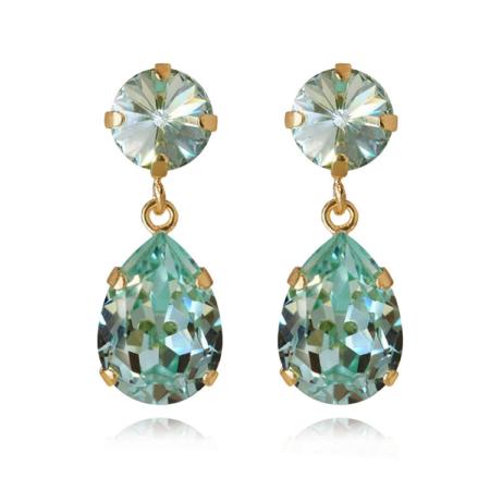 Caroline Svedbom Classic Drop Earrings Chrysolite Gold