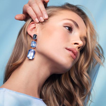 Caroline Svedbom Alexa Long Earrings Aquamarine