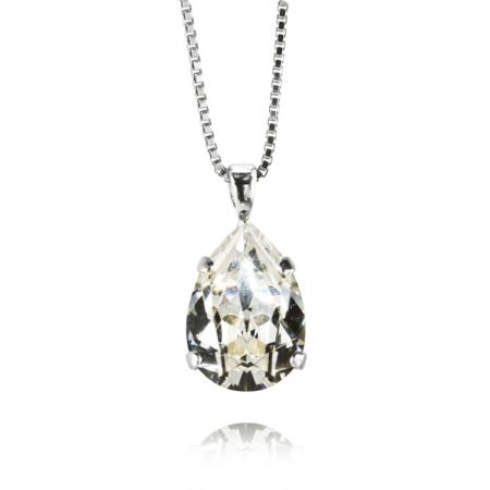 Caroline Svedbom Mini Drop Necklace Rhodium
