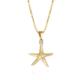 Caroline Svedbom Starfish Necklace Crystal