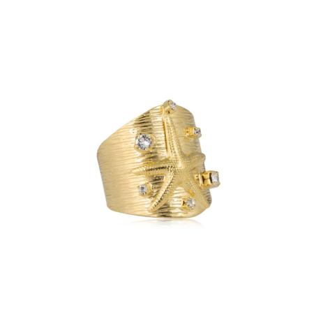 Caroline Svedbom Starfish Ring Crystal