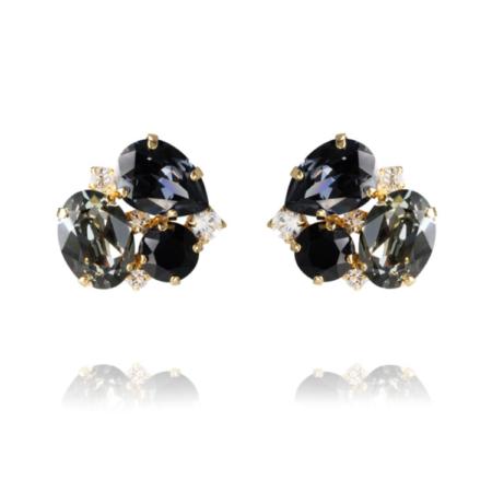 Caroline Svedbom Carolina Earrings Black Diamond Combo