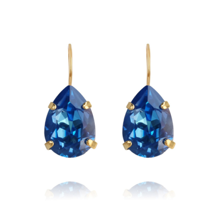 Caroline Svedbom Mini Drop Clasp Earrings Royal Blue Delite