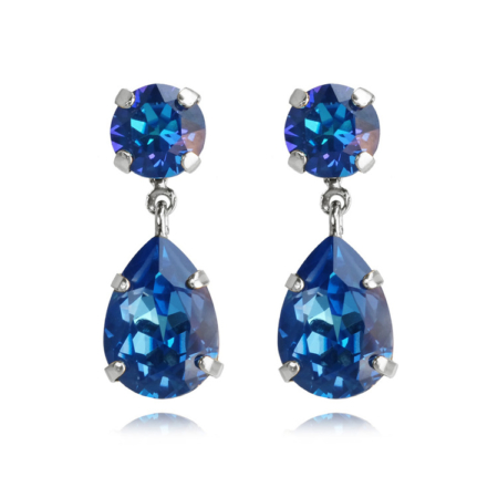 Caroline Svedbom Mini Drop Earrings Royal Blue Delite