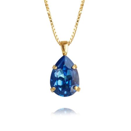 Caroline Svedbom Mini Drop Necklace Royal Blue Delite