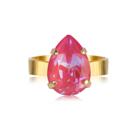 Caroline Svedbom Mini Drop Ring Lotus Pink Delite