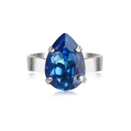 Caroline Svedbom Mini Drop Ring Royal Blue Delite