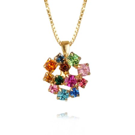 Caroline Svedbom Kassandra Necklace Rainbow Combo