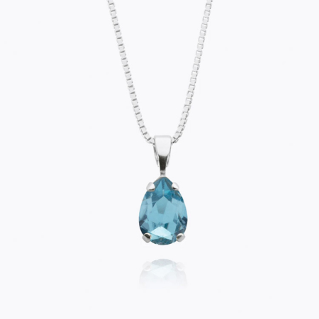 Caroline Svedbom Petite Drop Necklace Aquamarine