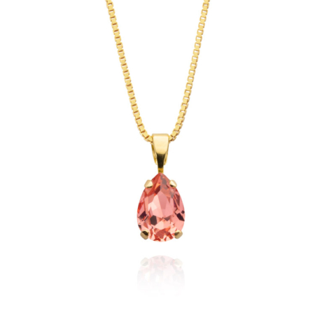 Caroline Svedbom Petite Drop Necklace Rose Peach
