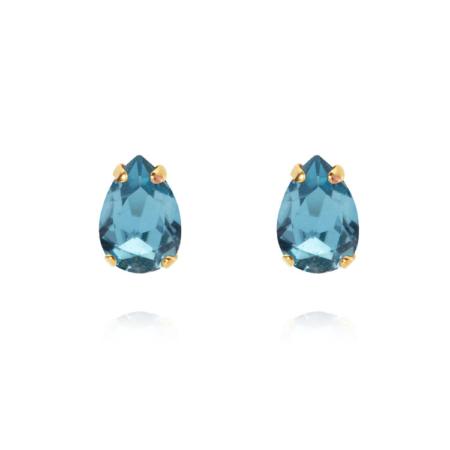 Caroline Svedbom Petite Drop Stud Earring Aquamarine